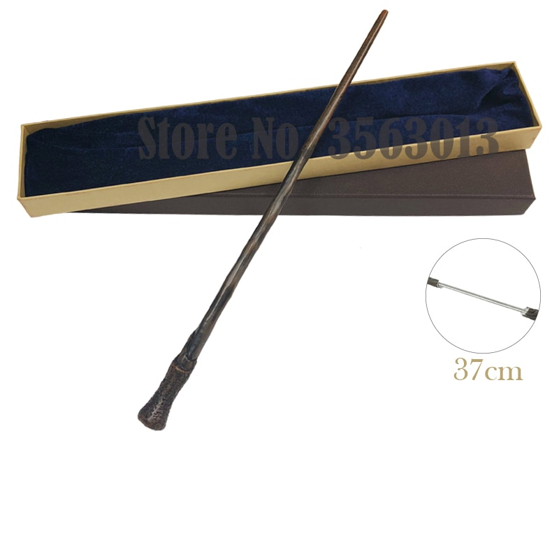 32 Kinds of Metal Core Potters Magic Wands Cosplay Dumbledore Voldemorte Ron Hermione Harried Magical Wand with Box and Gift