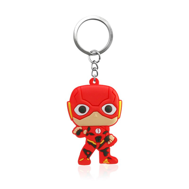 DC Cartoon Justice League Superheroes Shaped PVC Key Chain