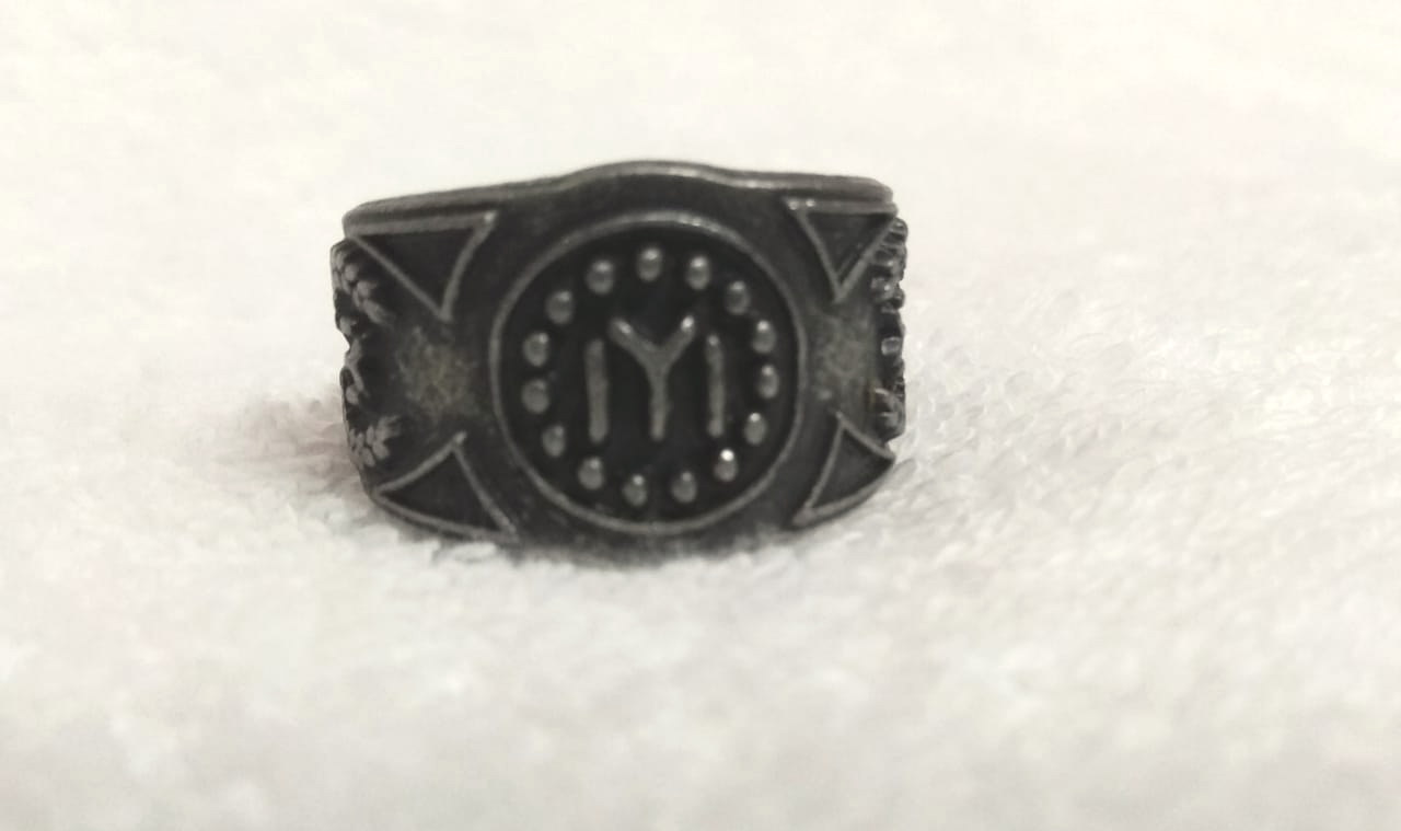 Ertugrul - Kayi Logo Antique Adjustable Ring